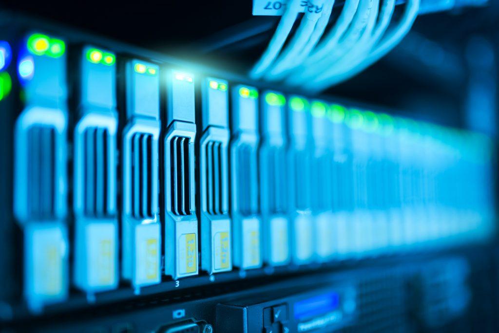 Rack of Hard Disk Representing a File Server