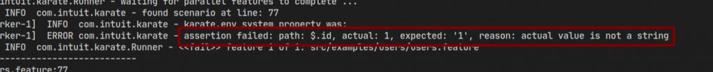 Matcher fail text before Karte 1.0